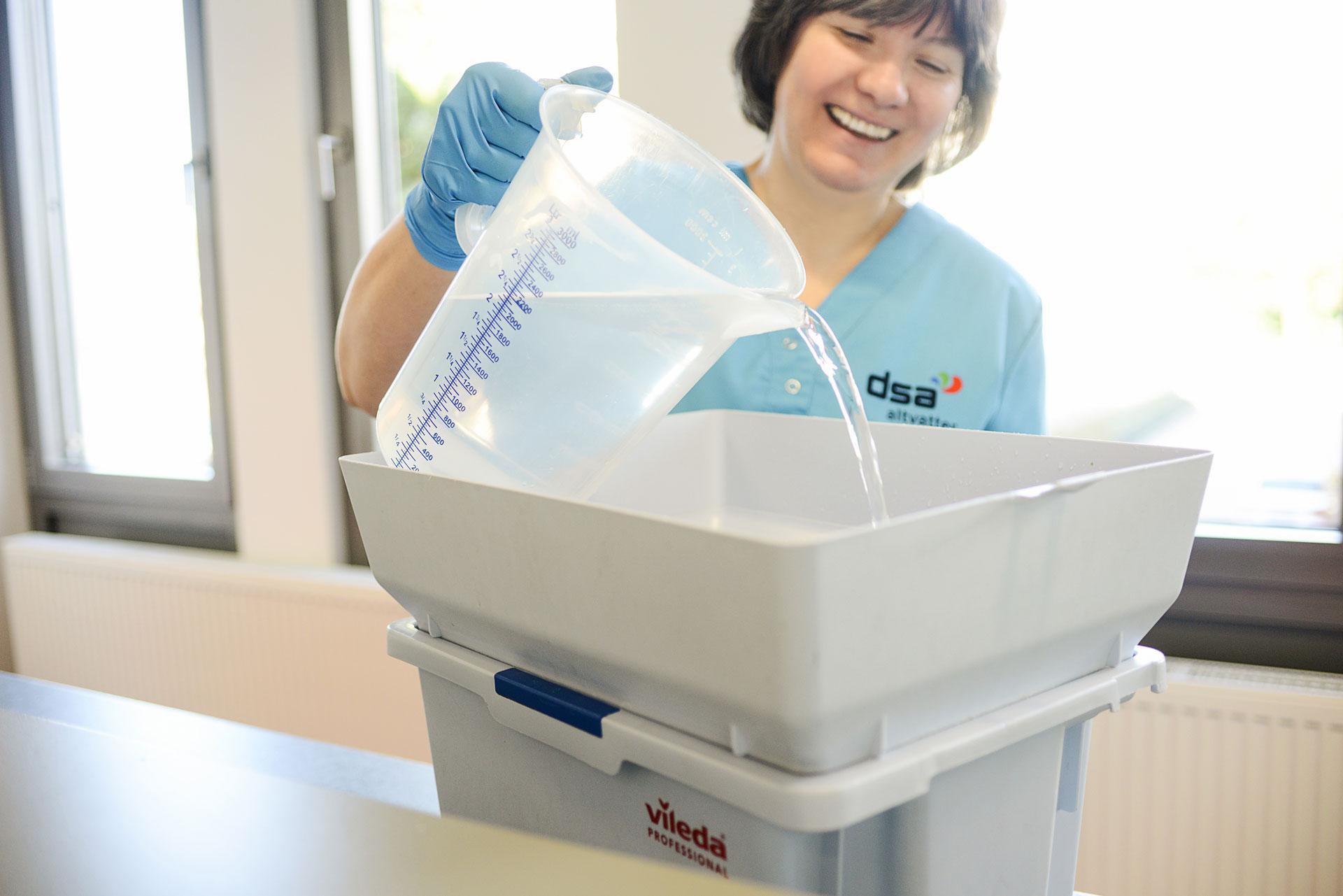 Wassersparende Reinigungsverfahren